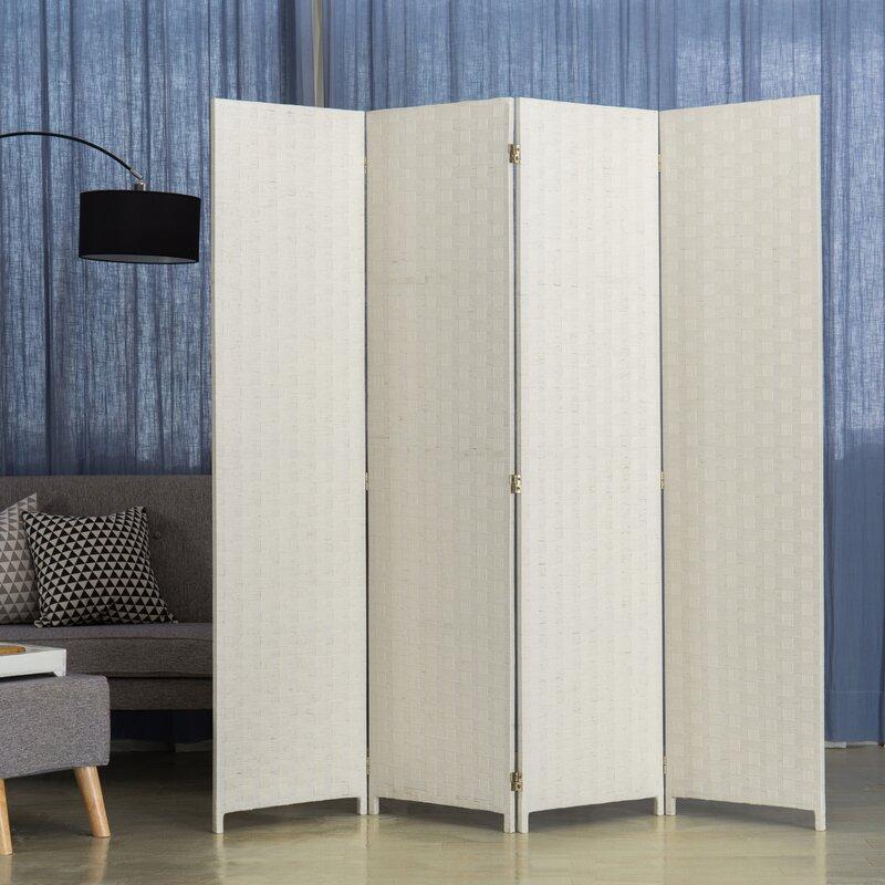 Ebern Designs 78 7 4 Panel Folding Room Divider Wayfair