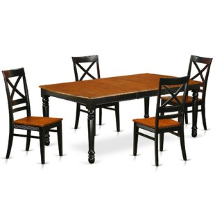 August Grove Pimentel 5 Piece Solid Wood Dining Set