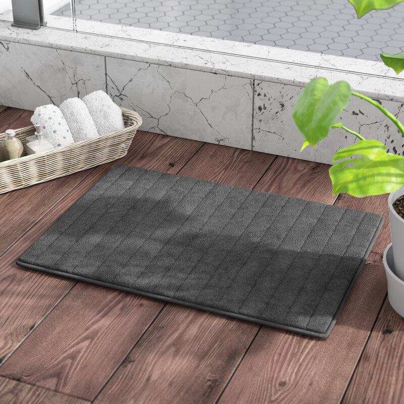 Beige Memory Foam Anti Slip Luxurious MicroPlush Bath Shower Rug Mat 24/'/' x 17/'/'