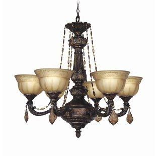 Lucerne 6-Light Shaded Chandelier by Woodbridge Lighting