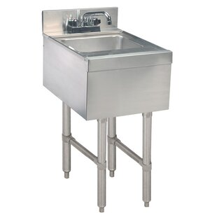 free standing handwash station with faucet - Stainless Utility Sink
