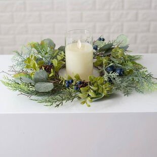 A Cheerful Giver Pinecone with Maple Candle Ring Multi