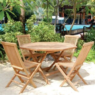 Vineyard 5 Piece Teak Dining Set by Bambo..
