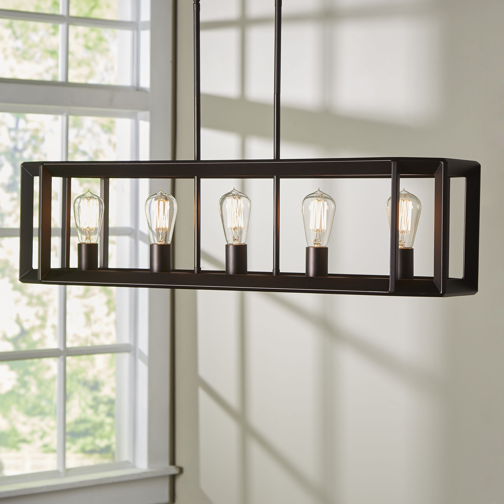 Laurel Foundry Modern Farmhouse Bouvet 5 Light Kitchen Island Pendant U0026  Reviews | Wayfair