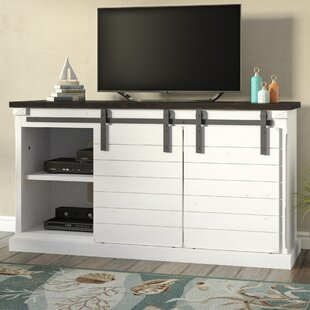 Compare & Buy Virgina European Cottage Barn Door TV Stand for TVs up to 65 by Longshore Tides Reviews (2019) & Buyer's Guide