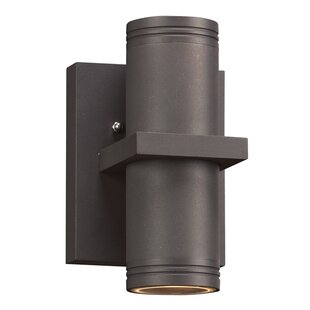 Reviews Hamburg 2-Light Outdoor Sconce By Breakwater Bay