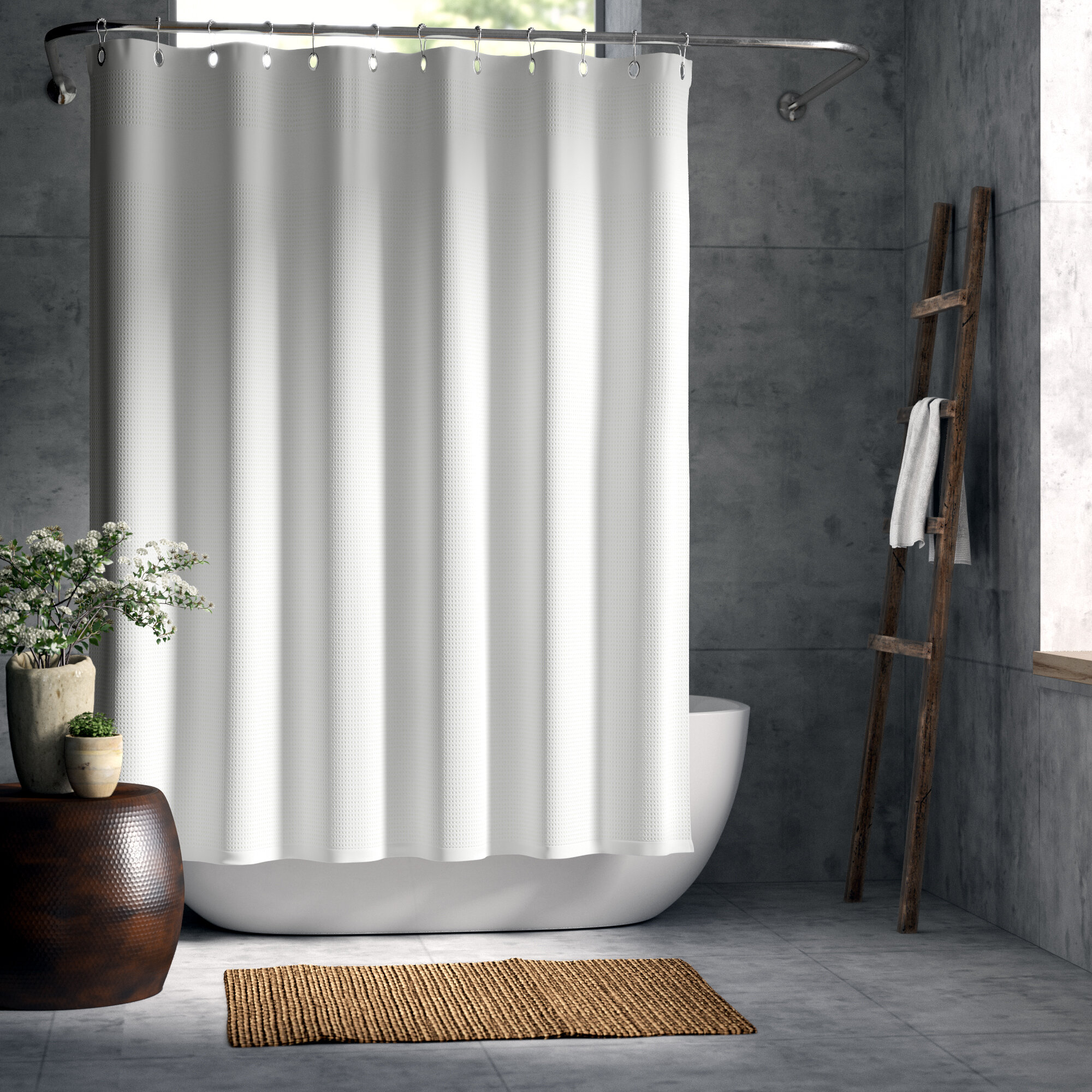 Greyleigh La Crosse Extra Heavy Hotel Quality Cotton Shower Curtain Reviews