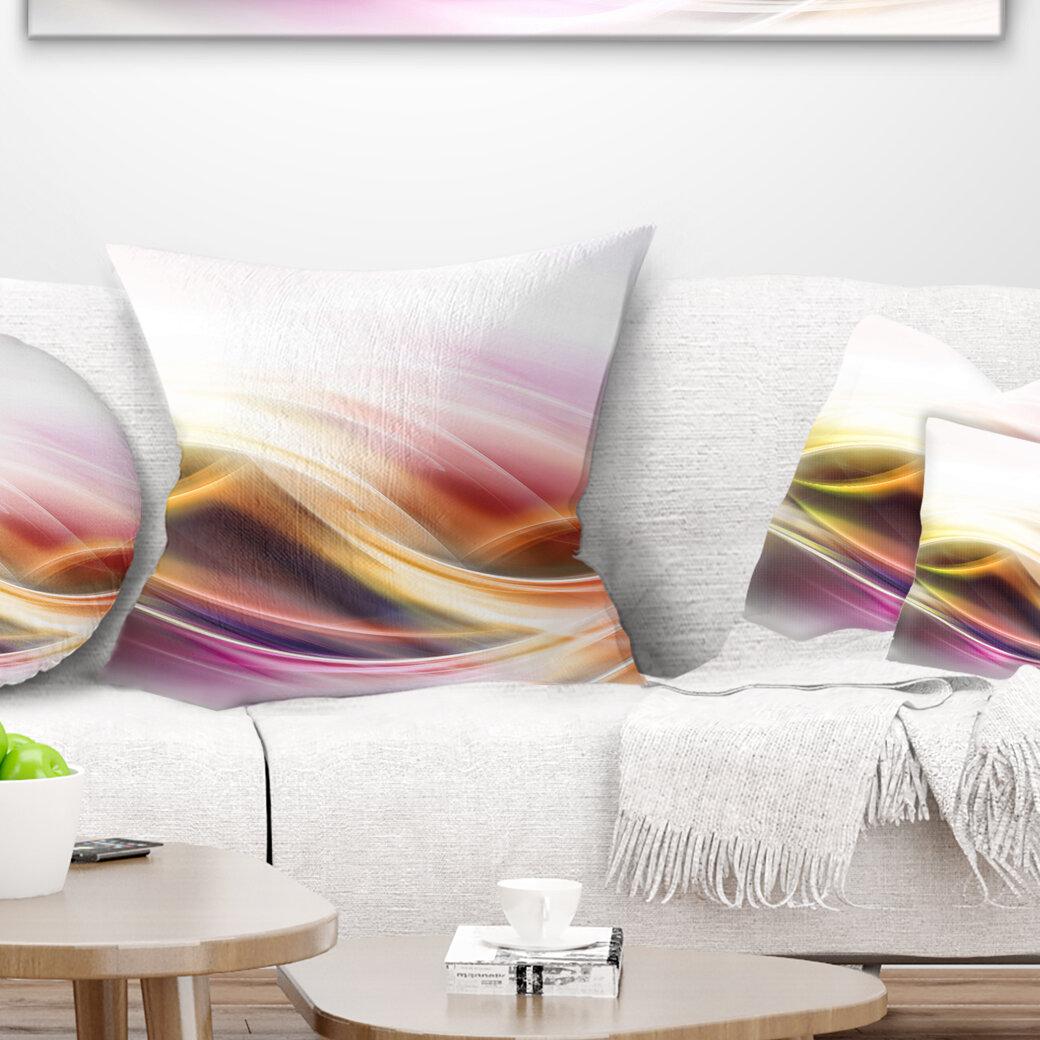 East Urban Home Abstract Elegant Light Color Pattern Pillow Wayfair