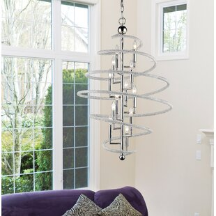 Iliomar 12-Light Geometric Chandelier by Orren Ellis