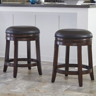 Cruce 24.75 Swivel Bar Stool (Set Of 2) by Charlton Home New
