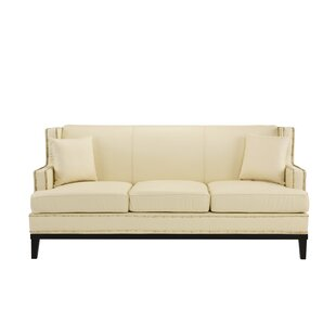 Milano Leather Sofa by Charlton Home