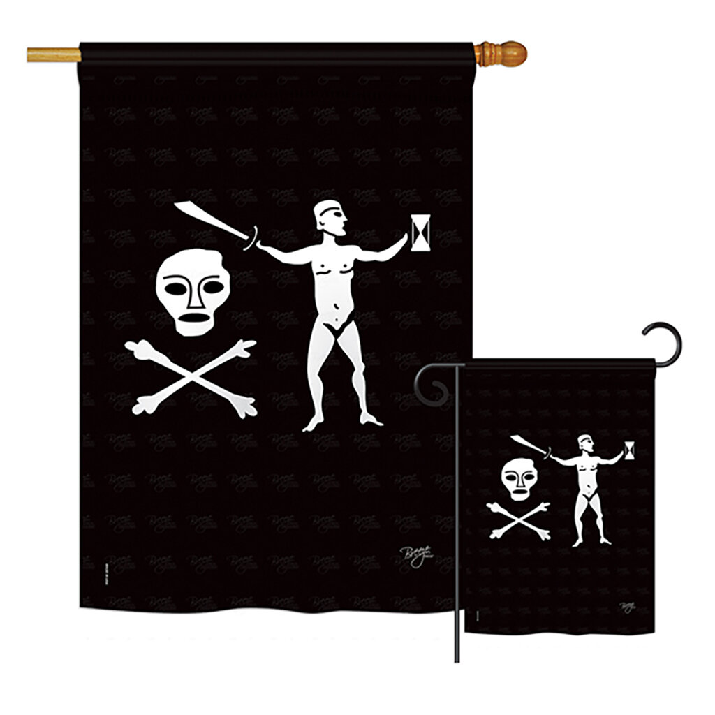 Breeze Decor Walter Kennedy Pirate Impressions 2 Sided Polyester 2 Piece Garden Flag Set Wayfair