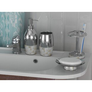 Reviews Mabry 4 Piece Bathroom Accessory Set By Rosecliff Heights