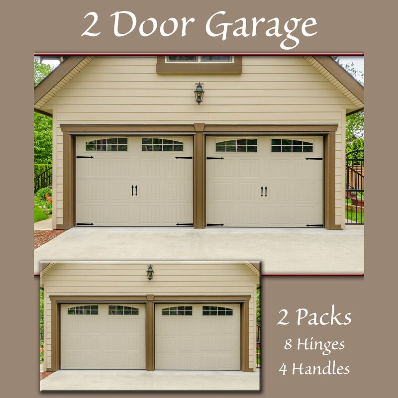 Hinge It 6 Piece Decorative Garage Door Set