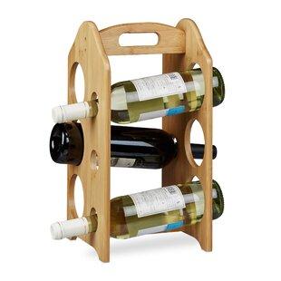 Lennon 6 Bottles Tabletop Wine Rack By Natur Pur
