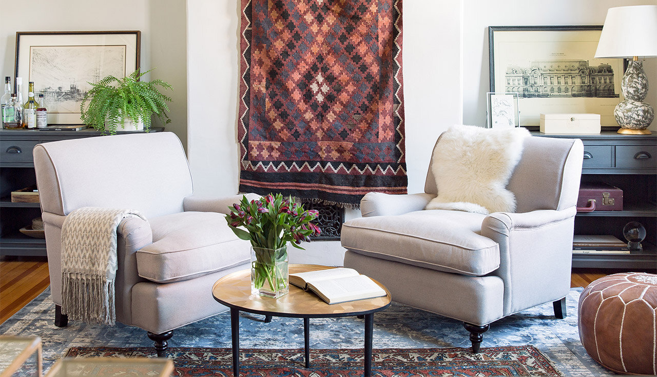 Small Space Makeover: A Double-Duty Den  Wayfair