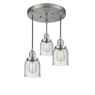 Bourland 3-Light Cluster Pendant by Williston Forge