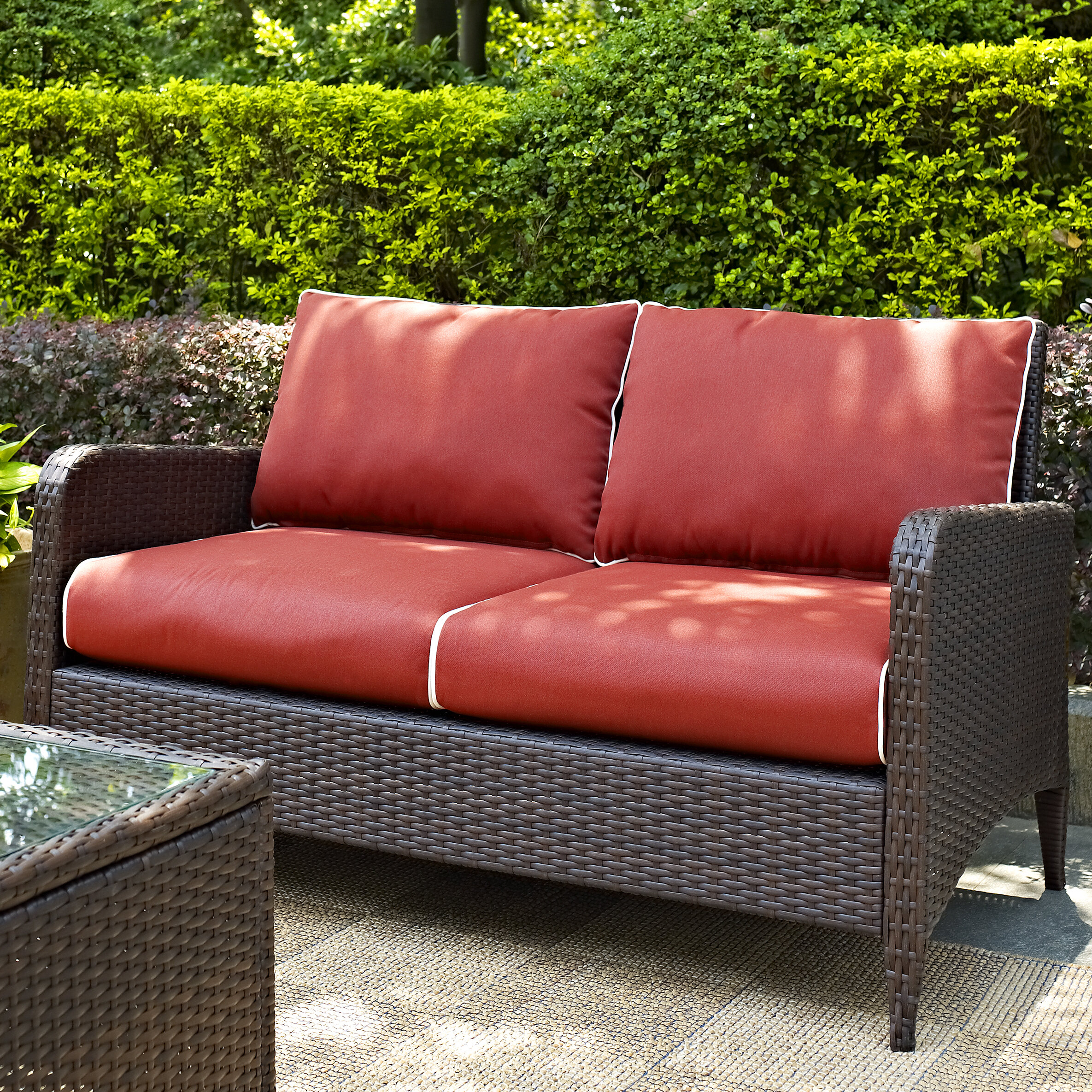 Mosca Patio Loveseat With Cushions Reviews Joss Main