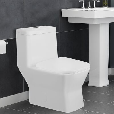 Aqualife Corp Potomac 1.28 GPF Elongated One-Piece Toilet (Seat Included)