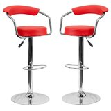 Nerys Modern Adjustable Height Bar Stool (Set of 2) by Orren Ellis