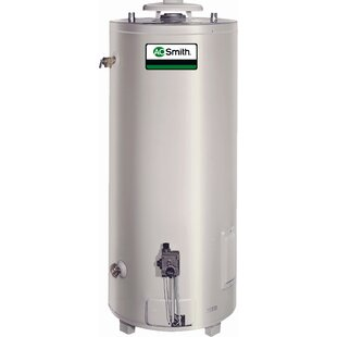 A.O. Smith Commercial Tank Type Water Heater Nat Gas 98 Gal Conservationist 75,100 BTU Input Single Flue Model
