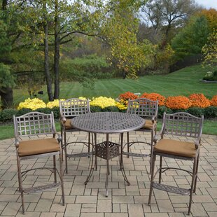 Fleur De Lis Living Braddock 5 Piece Bar Height Dining Set