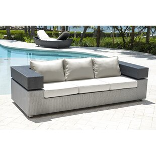 Onyx Patio Sofa with Cushions by Panama Jack Outdoor