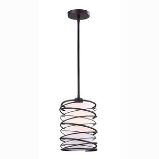Rowell 1-Light Cylinder Pendant by Wrought Studio