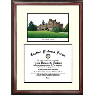NCAA Towson Tigers Scholar Lithograph Diploma Frame By Campus Images