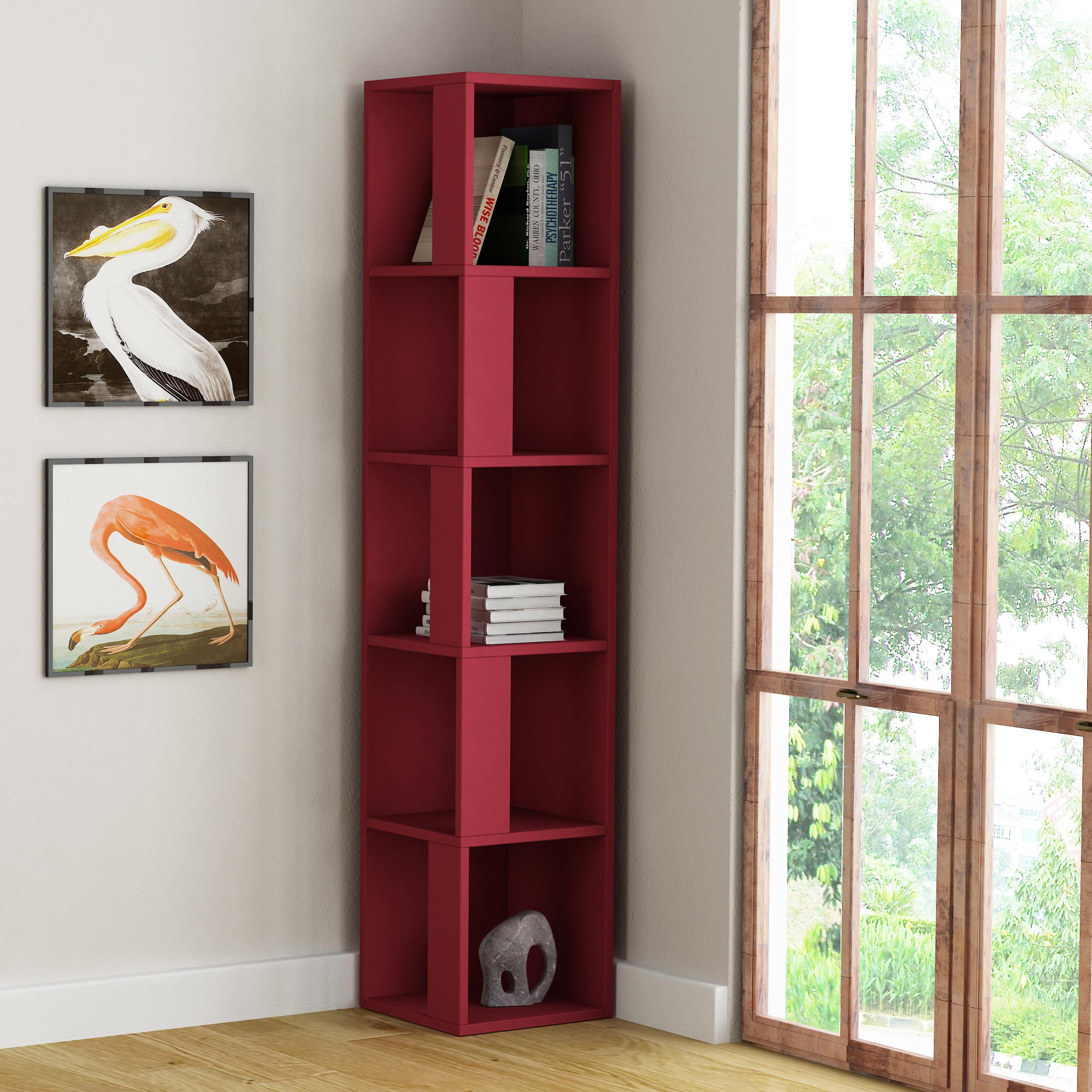 Sisto Corner Bookcase