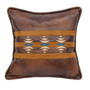 Glenn Southwestern Faux Leather Throw Pillow