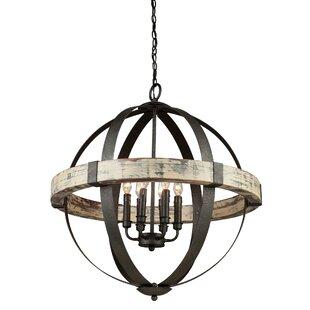 Pearl 6-Light Globe  Chandelier ByLaurel Foundry Modern Farmhouse