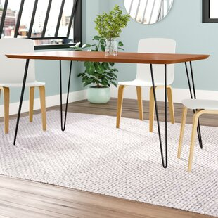 Lacluta Hairpin Dining Table by Mercury Row Wonderful