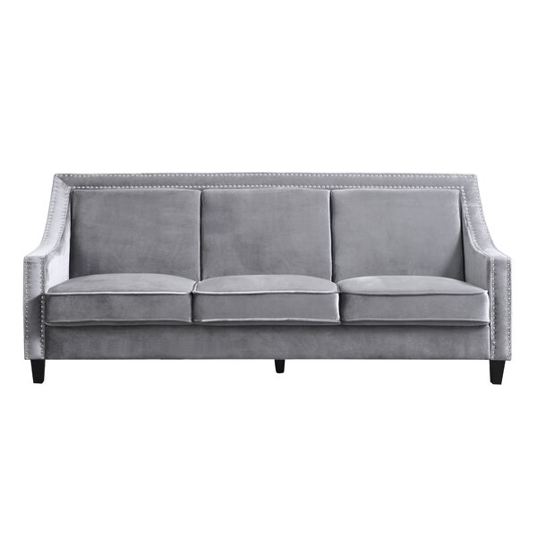 Awe Inspiring Gray Sofa With Nailhead Trim Wayfair Machost Co Dining Chair Design Ideas Machostcouk