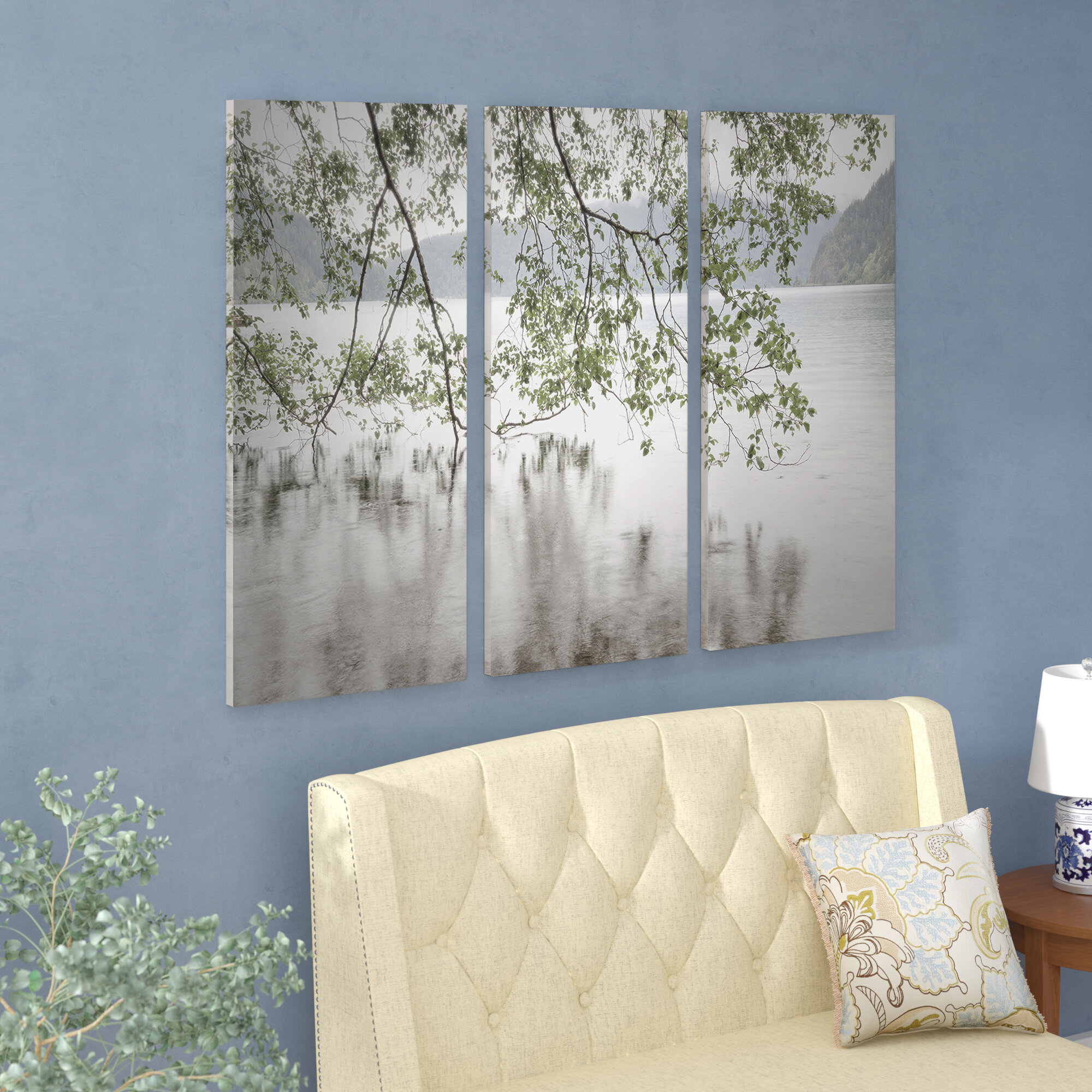 Beautiful Lake View Nature Wall Picture 22 X 34 inch  FAST SHIPPING