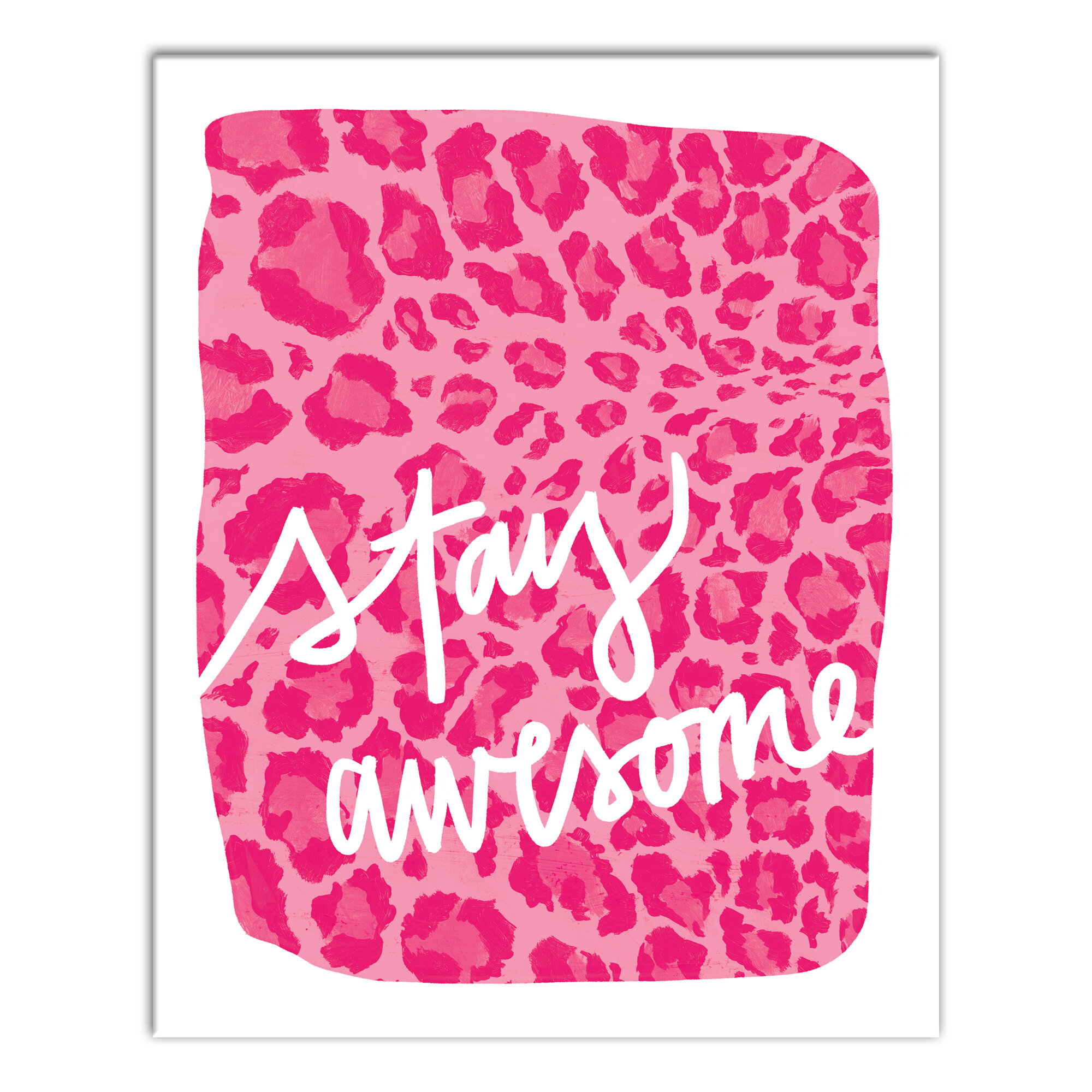 Blue Elephant Bowen Stay Awesome Canvas Art Wayfair Co Uk