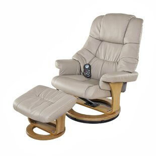 Sao Reclining Massage Chair With Ottoman by Latitude Run #1