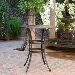 Corle Outdoor Cast Aluminum Bar Table