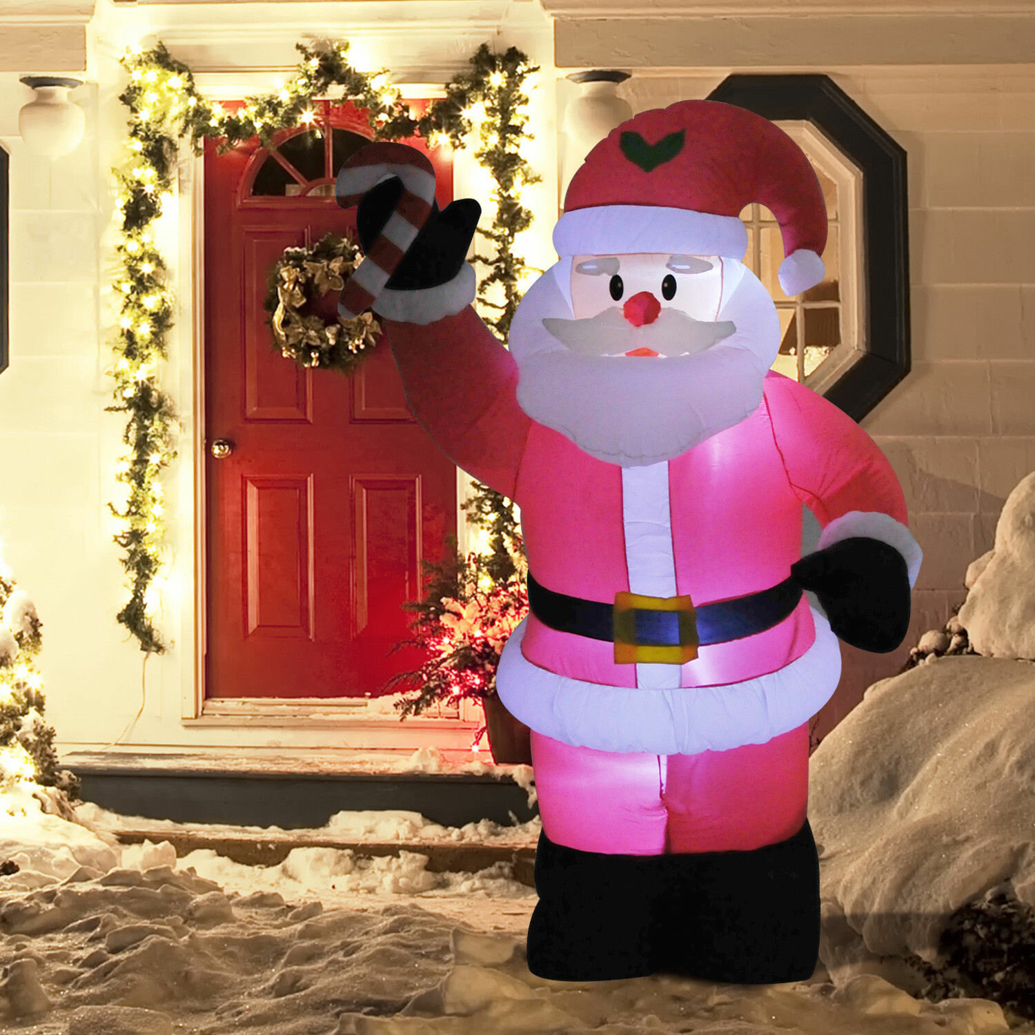 8 Indoor Outdoor LED Inflatable Holiday Christmas Yard Decoration