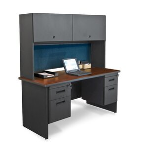 Crivello Executive Desk With Hutch by Red Barrel Studio Savings