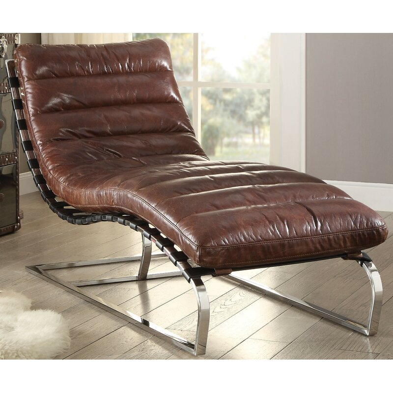 Orren Ellis Kamps Top Grain Leather