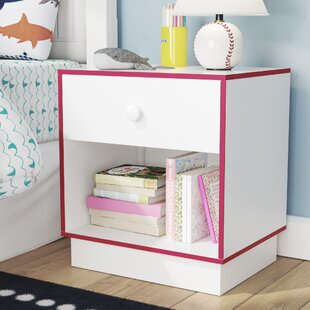 Shyann Contemporary 1 Drawer Nightstand by Zoomie Kids