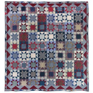 August Grove Breccan Denim Burst Quilt
