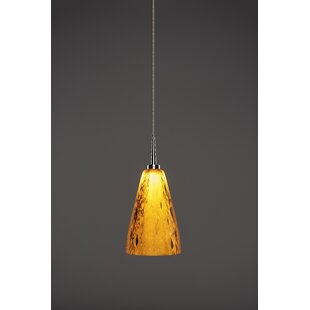 Bruck Lighting Zara 1-Light Cone Pendant