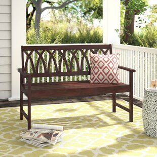 Creekmore Criss Cross Wood Garden Bench