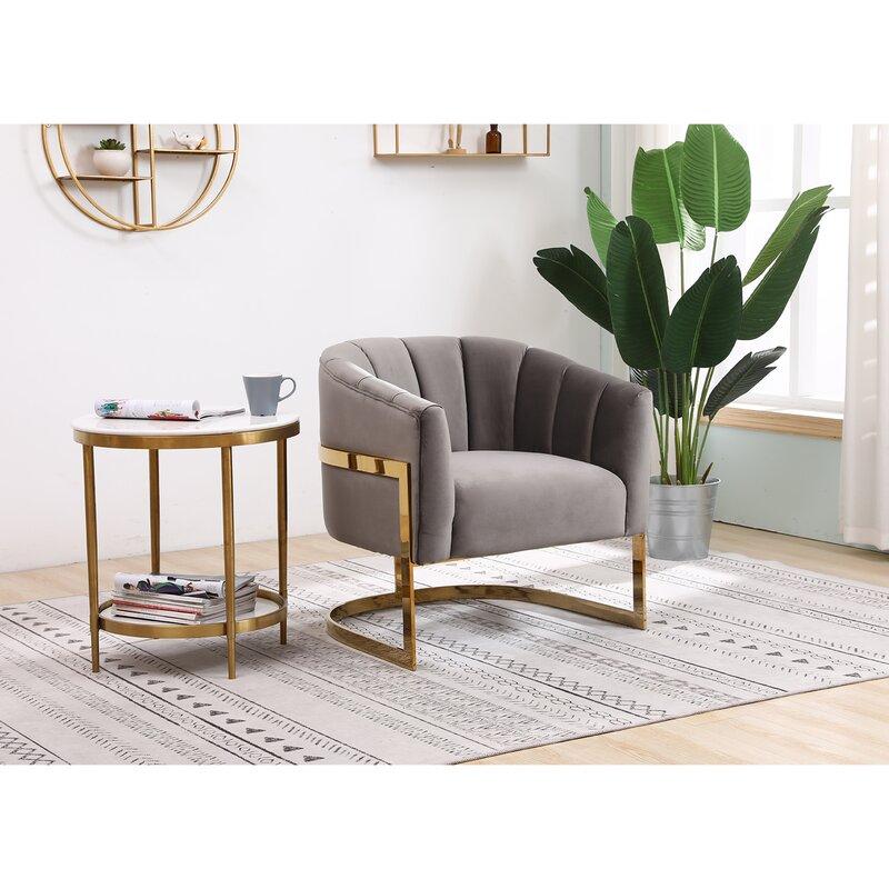 everly quinn sisco living room accent chair  wayfair