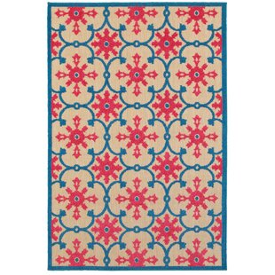 Luisa Sand/Pink Indoor/Outdoor Area Rug