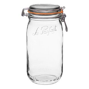 Super Jar Rounded French Glass 3-Piece Storage Jar Set (Set of 3)