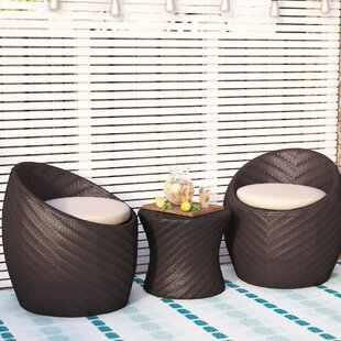 Rollin 3 Piece Conversation Set with Cushions