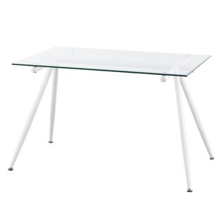 Brayden Studio Woodhouse Contemporary Glass Dining Table